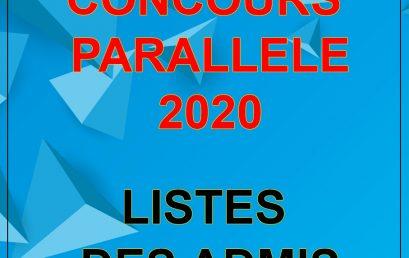 Liste des admis à l'ENSMR issus du Concours parallèle 2020